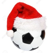 6021832-Santa-Claus-hat-on-the-soccer-ball-Stock-Photo-football-christmas-soccer